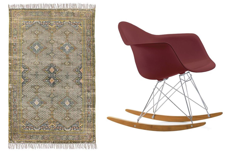 vloerkleed hkliving vitra schommelstoel