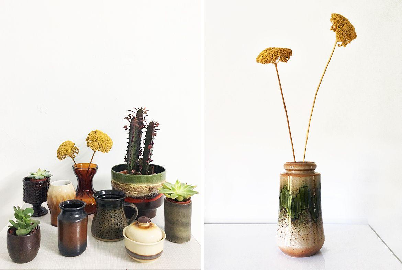 retro vazen vintage vazen groene vaas