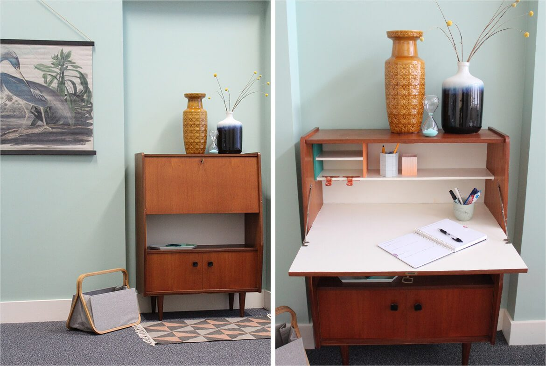 secretaire bureau vintage diy kanyer
