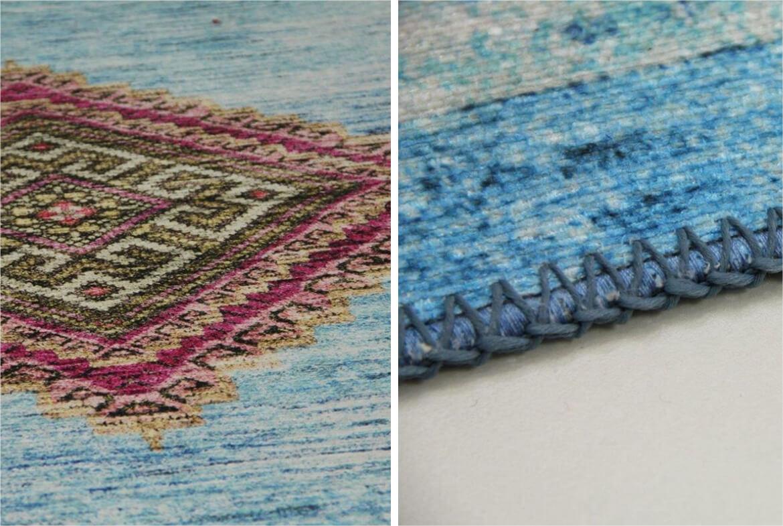 vloerkleed blauw perzisch tapijt