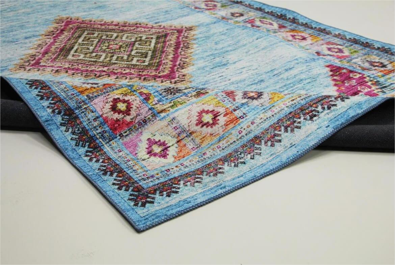 vloerkleed blauw perzisch